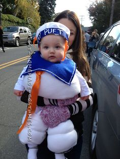 Sweet Little Marshmallow Man Baby Costume… Coolest Halloween Costume Contest