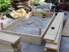 first layer done on raised bed