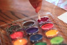 Playing House: Watercolors and Q-tip Painting