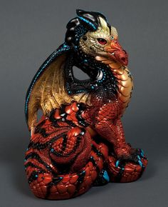 "Windstone Editions ""Siphlophis 1"" Male Dragon Figurine Fantasy Statue 