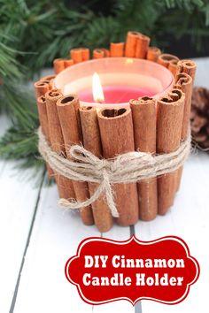 DIY Cinnamon Candle Holder Craft