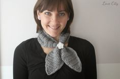 Having Happy: crochet love {ascot neck scarf}
