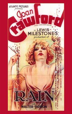 "Joan Crawford in Lewis Milestone's ""Rain."""
