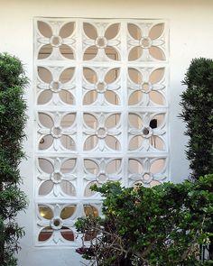 Concrete Lattice, Hollywood Vintage Tropical Architecture 019, via Flickr.