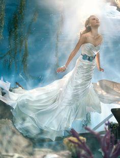 Disney Fairy Tale Weddings by #AlfredAngelo Style 223 #Ariel