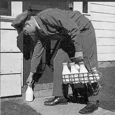 Yes! Our milk was delivered by Mac! A jolly, pot bellied, fatherly man! His uniform was white, though. He worked for Carnation.