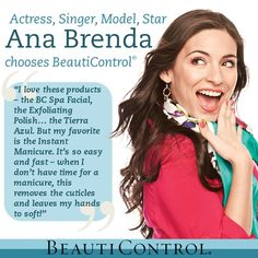 Meet Ana Brenda Contreras… Actress, Singer, Model, STAR! \\ Fans adore her, she is beautiful and successful... and she chooses BeautiControl! www.beautipage.com/fountain
