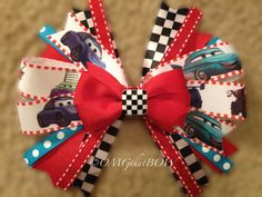 OMG that CARS Prima BowOver the top boutique by OMGthatBOW on Etsy, $15.00