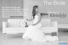 By Styling The Bride, on-location hair & make-up team.