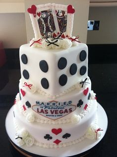 Vegas wedding cake by Sophisticakes Chelmsford,