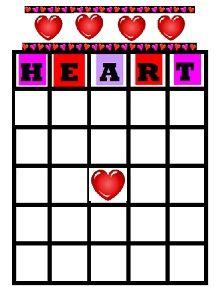 Valentines Bingo - free printable.