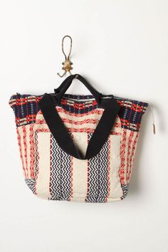 Pattern tote | Short handles | Woven