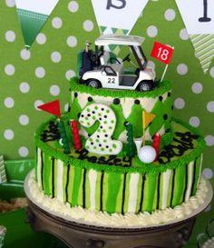 golf cart, birthday parties, golf cake, golf party, golf parti, parti idea, party cakes, birthday cakes, golf theme