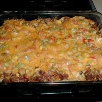 Taco Casserole  http://www.grouprecipes.com/29599/taco-casserole.html#