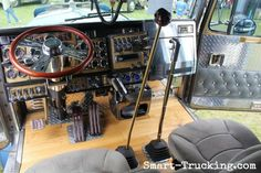 Kenworth custom interior, with twin sticks.