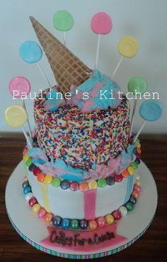 Ice Cream Candy Cake