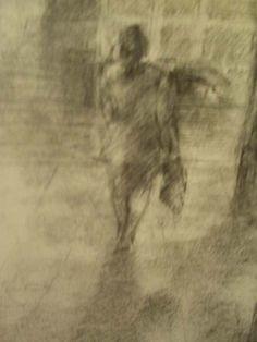 """""""Jermyn Rain"""" - inspired by """"a moment"""" on Jermyn Street in London (pencil)"""
