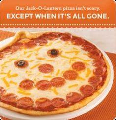 make a fun pizza like Papa Murphy's Jack O' Lantern pizza
