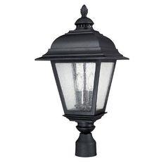 Capital Lighting 9967BK 3 Light Outdoor Post Fixture, Black