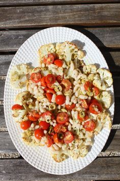 Cauliflower Steaks and White Bean Salad recipe Healthy recipe #food #recipe #salad #healthy