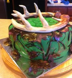 Deer antler cake