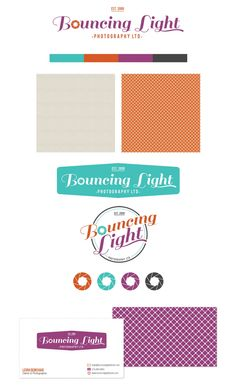 Bouncing Light Brand by Holly McCaig Creative.