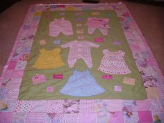 idea, craft, baby quilts, babi quilt, baby clothes quilt, babi cloth, babies clothes, bella quilt, memori quilt
