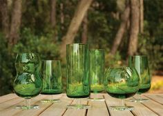 forests, ilio glass, green drinks, bottl green, glasses, forest green, drink glass, green glasswar, glass forest