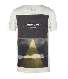 Only Sky Cut Collar T-shirt, Men, Graphic T-Shirts, AllSaints Spitalfields