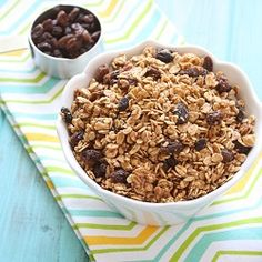 Cinnamon Raisin Granola Recipe