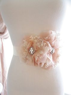 Hey, I found this really awesome Etsy listing at https://www.etsy.com/listing/155431047/blush-pink-and-ivory-lace-silk-organza