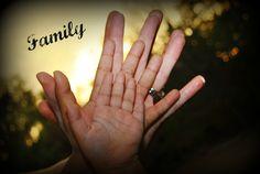Family Hands - photo keepsake