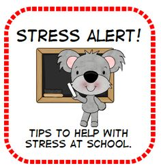 @Laura Poppert Rowe Tips to help with stress at school plus free printable.