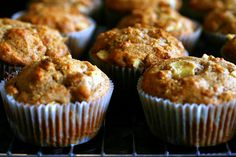 whole wheat apple muffins - SO GOOD!