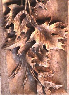 Carved Wood Leaves