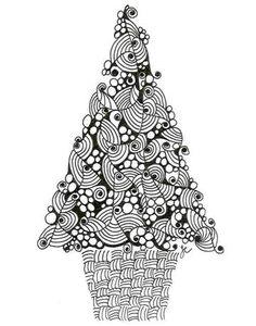 Zentangle Christmas Tree!