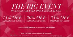 HUGE SALE AT Shopbop