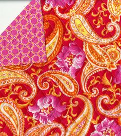 Double-faced quilt fabric in pink paisley :)  Would this ever be easy!