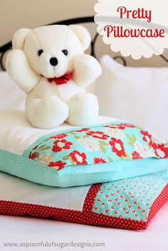 pillowcas, interior, cant wait, pocket, gift, beds, pattern, bears, sewing tutorials