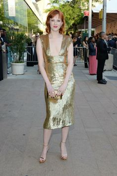 Karen Elson in Michael Kors at the 2014 CFDA Awards