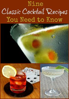 9 Classic Cocktail Recipes You Need To Know