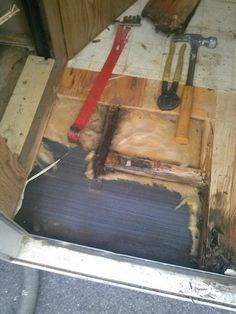 Removing rotted floor