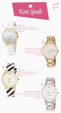 Kate Spade Watches.. Silver or gold