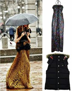 Don't think you have to save your maxi-dress for summer. Add studded up ankle boots and a fur gilet for a very Parisienne chic look!