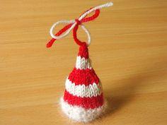 Ravelry: Santa Hat Christmas Ornament FREE knitting pattern by Linda Dawkins