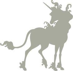 the last unicorn, unicorn silhouette, silhouett custom