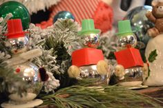 vintage snowman ornaments at http://www.chartreuseandco.com/tagsale