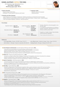 tabs with grey and orange make this resume a standout