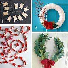 Roundup: 16 Wreaths and Garlands To DIY This Holiday Season » Curbly | DIY Design Community
