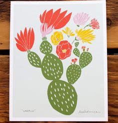 Cactus Print 8 x 10. $20.00, via Etsy.